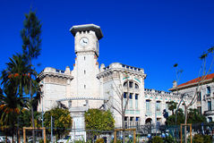 Byggnad i Belle Epoque stil Nice Frankrike Arkivfoto