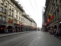 Byggnad i Bern Fotografering för Bildbyråer