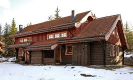 Byggnad i Bjornstigen Salen Dalarna County sweden Arkivbild