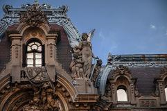 Byggnad i Bucharest Arkivbild
