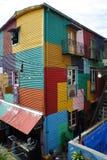 Byggnad i Caminito, La Boca, Buenos Aires Arkivfoto