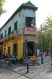 Byggnad i Caminito, La Boca, Buenos Aires Royaltyfri Foto
