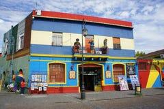 Byggnad i Caminito, La Boca, Buenos Aires Arkivbild