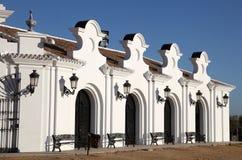Byggnad i El Rocio, Spanien Royaltyfria Foton