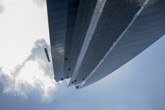 Byggnad i finansiellt område i Panama City arkivfoton
