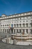 byggnad i fyrkanten i Rome Royaltyfri Foto