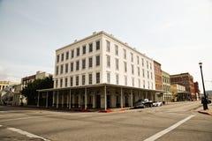 Byggnad i Galveston Texas Arkivbilder