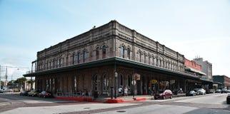 Byggnad i Galveston Texas Arkivbild