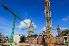 Byggnad i Groningen Royaltyfria Bilder
