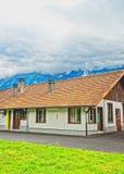 Byggnad i Interlaken av Bern Canton i Schweiz Royaltyfria Foton