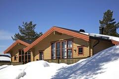 Byggnad i Lindvallen Salen Dalarna County sweden Royaltyfri Fotografi