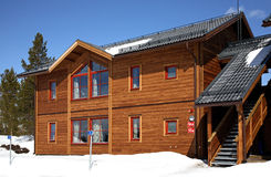 Byggnad i Lindvallen Salen Dalarna County sweden Royaltyfria Bilder
