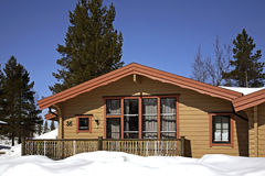 Byggnad i Lindvallen Salen Dalarna County sweden Arkivbilder
