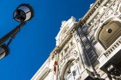 Byggnad i Madrid Royaltyfri Bild