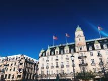 Byggnad i Oslo arkivbild