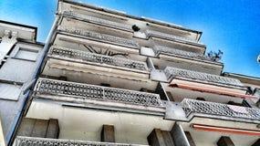 Byggnad i perspektiv Arkivbild
