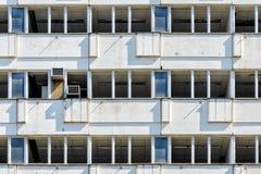 Byggnad i Petržalka, Bratislava, Slovakien Arkivbilder