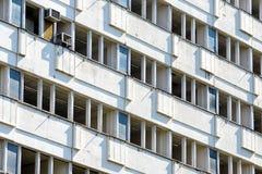 Byggnad i Petržalka, Bratislava, Slovakien Arkivfoto