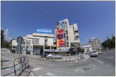 Byggnad i Skopje, Makedonien arkivbild