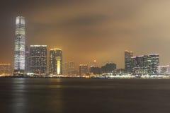 Byggnad Icc på Hong Kong Royaltyfri Foto