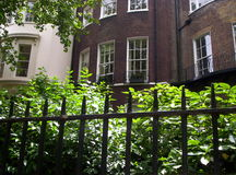 byggnad james nära parkst Royaltyfri Bild