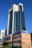 Byggnad kallad SJUNDE KONTINENT i Astana Arkivfoto