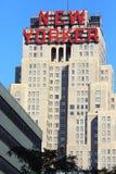 Byggnad med det nya Yorker tecknet Arkivfoton
