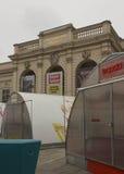 Byggnad med inskriften till Franz Joseph Royaltyfri Bild