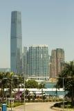 byggnad mest högväxt Hong Kong Royaltyfri Bild