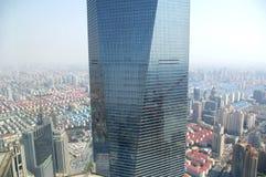 byggnad mest högväxt shanghai Arkivfoto