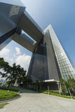 byggnad moderna Hong Kong Royaltyfri Bild