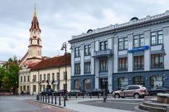 Byggnad Nordea Lietuva (Ryss-asiatet banken), Vilnius Royaltyfri Bild