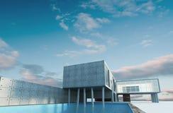 Byggnad och sky royaltyfri illustrationer