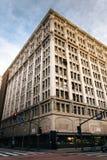 Byggnad på Broadway i smyckenområdet, i i stadens centrum Los Royaltyfria Foton