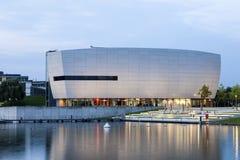 Byggnad på VWEN Autostadt i Wolfsburg, Tyskland Arkivbild