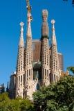 Byggnad Sagrada Familia Arkivbilder