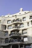 Byggnad som byggs av Gaudi, Barcelona Fotografering för Bildbyråer