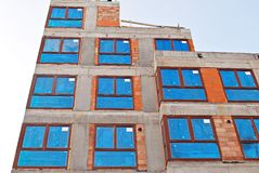 Byggnad under konstruktion Arkivfoto