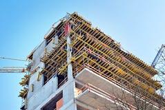 Byggnad under konstruktion Fotografering för Bildbyråer
