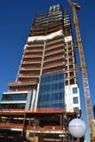 Byggnad under konstruktion i Portland, Oregon arkivbilder
