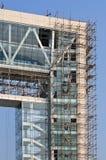 Byggnad under konstruktion, Weihai, Kina Arkivbilder