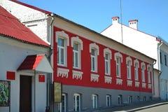 Byggnaden är en gammal restaurang arkivbild