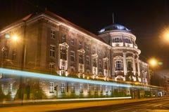 Byggnaden av akademin av medicinska vetenskaper royaltyfri fotografi