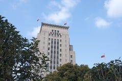 Byggnaden av banken av Kina lokaliserade på bunden shanghai Royaltyfria Bilder