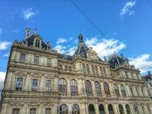 Byggnaden av cci de Lyon, Lyon gammal stad, Frankrike Arkivbilder