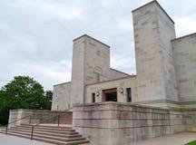 Byggnaden av den australiska krigminnesmärken Arkivbild