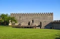 Byggnaden av den kungliga slotten i Szydlow, Polen royaltyfri fotografi