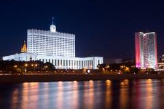 Byggnaden av den ryska regeringen royaltyfri bild