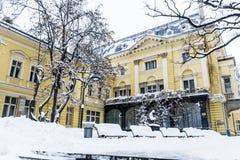 Byggnaden av den tidigare Royal Palace I dag den nationella Art Gallery i Sofia Arkivfoton