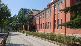 Byggnaden av det dalian institutet av kemisk fysik Arkivbilder